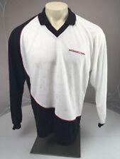 DC SHOE CO USA apparel long sleeve black/white/red collared golf shirt small