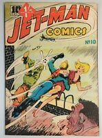 🍁 Rare Jet-Man Comics #10 (#2) ( Bell Features 1946 ) Canadian White Comic Book
