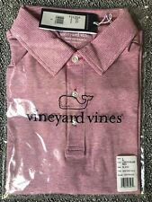 Vineyard Vines Men's Destin Stripe Sankaty Performance Polo L Lighthouse Red