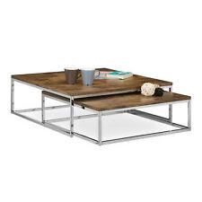 Couchtisch FLAT Wohnzimmertisch 2er Set Beistelltisch natur Sofatisch Tisch groß