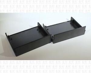 All Plastic 4-Piece Black Project Box 7 X 5.5 X 2.5 Inch