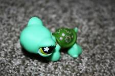 Littlest Pet Shop Turtle #793 Green Pink Flower Eyes LPS Toy RARE VHTF Animal