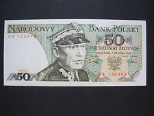Poland, Bank Polski 50 Zlotych Banknote 1988 (W 504)