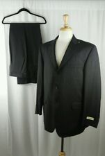 NWT BURBERRY LONDON 100% Wool Men's Dark Grey Pinestripe Suit Size 44 R W38