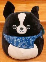 """Kellytoy Squishmallow 2020 Collection Tommy the Black Dog 12"""" Plush Doll Toy"""