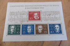F96 German stamp souvenir sheet Einweihung Der Beethoven Halle Zu Bonn 1959