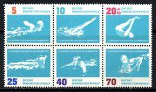 East Germany 1962 Tenth European Swimming Championships  SG.E646/E651 Mint (MNH)