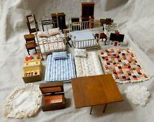 Vintage Dollhouse Furniture & Accessories Lot Dollhouse Miniature 1:12