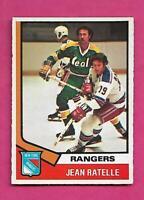 1974-75 OPC # 145 RANGERS JEAN RATELLE  EX-MT CARD (INV# C4017)