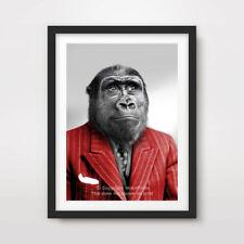 GORILLA ANIMAL ART PRINT POSTER On Human Body Head Portrait Funny Quirky Monkey