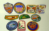 Boy Scouts Patches  Bundle Lot of 10  1967 1971 Vintage