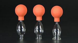 3er Schröpfset 10-20mm m. Ball,Schröpfglas,Schröpfgläser Original Lauschaer Glas