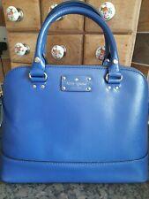 Kate Spade Blue Leather Grab Shoulder Bag