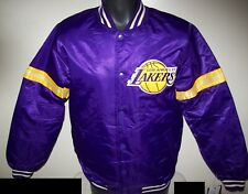 LOS ANGELES LAKERS Starter LEGACY Satin Jacket PURPLE 4X, 5X 6X