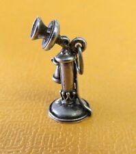 VTG 50s 60s BEAU Sterling Silver ANTIQUE TELEPHONE Bracelet CHARM