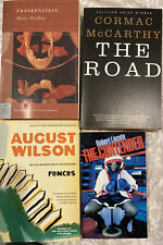 4 Paper Backs Frankenstein Mary Shelley, The Road McCarthy, Fences The Contender