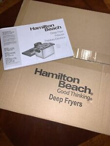 Hamilton Beach 19 Cup 3 Basket Electric Deep Fryer Stainless Steel 35035 New