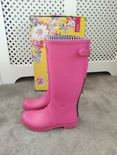 Bnib Women's Joules pink adjustable field Wellie boots sz 8 42
