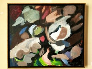 Mid Century Modern Abstract Expressionist Painting by Lee Byron Jennings, 1960
