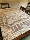 Antique+Square+Linen+Lace+Tablecloth