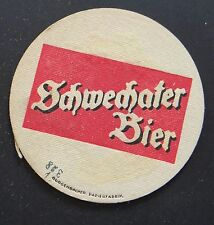Ancien sous-bock bière SCHWECHATER BIER variante coaster Bierdeckel 5