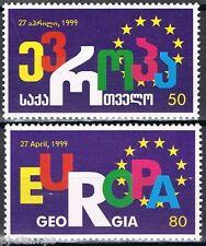 Europa Sympathy 1999 Georgië 318-319 toetreding Raad van Europa cat waarde € 5