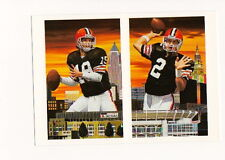 BERNIE KOSAR & TIM COUCH CLEVELAND BROWNS  BY ARTIST  DANNY DAY POST CARD