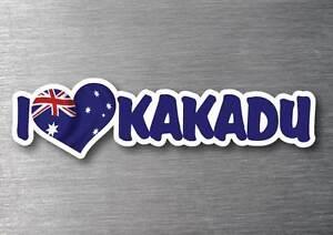 Custom I Love Kakadu sticker 250mm quality water & fade proof vinyl