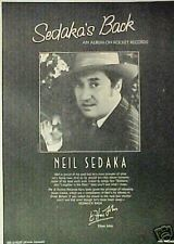 1974 Neil Sedaka Rocket Record/Album Promo Photo Art AD