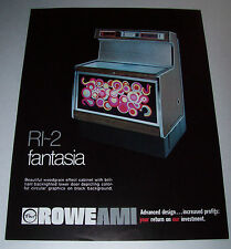 ROWE AMI FANTASIA RI-2 ORIGINAL NOS JUKEBOX FLYER PROMO ADVERTISING SHEET 1977