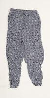 Primark Womens Blue Argyle/Diamond  Trousers  Size 10 L27 in - Cuffed