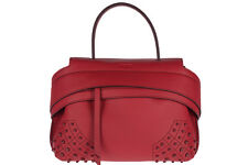 TOD'S BORSA DONNA A MANO SHOPPING IN PELLE NUOVA ROSSO 5A7