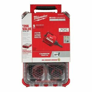 Milwaukee 49-56-9295 9 PC BIG HAWG™ with Carbide Teeth Hole Saw Kit