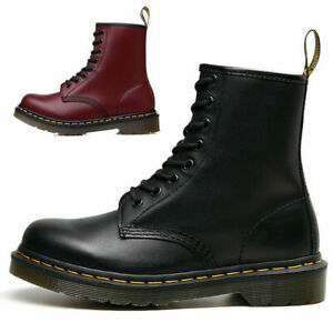 Womens Mens Ankle Boots Chunky Platform Lace Up Combat Army Goth Punk Ankle Boot