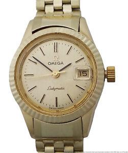 14k Gold Rare Omega Ladymatic Automatic Vintage Ladies Wrist Watch