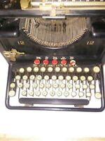 Vintage / Antique Black Remington Number 12 Typewriter Made in New York USA