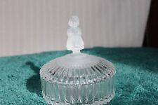 1993 M.J. Hummel Goebel Covered Crystal Dresser Trinket Jar With Lid