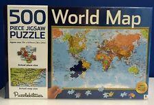 Puzzlebilities, 500 Piece Jigsaw Puzzle - World Map, Hinkler, 91.4 cm x 60.9 cm.