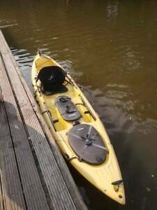 Sit On Fishing Kayak Ocean Kayak Trident 11 Prowler + Paddle + Rudder + Rod Pod