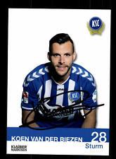 Koen van der Biezen Autogrammkarte Karlsruher SC 2014-15 Original Sign+A 145587