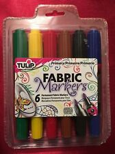 Tulip Rainbow Dual Tip Fabric Markers Brush & Bullet Tips 6pk - New In Package