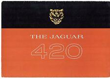 Jaguar 420 1967-68 UK Market Foldout Sales Brochure
