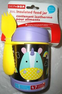 NEW SKIP HOP UNICORN insulated HOT/COLD Lunch Container Storage food jar + spork