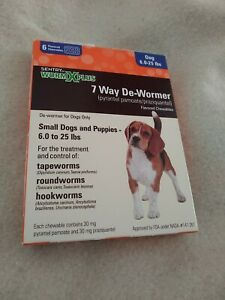 SENTRY Worm X Plus - 7 Way DeWormer for Small Dogs, 6 Count exp 04/2022