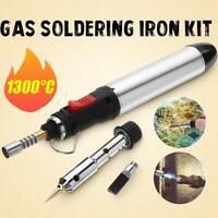 4In1 Gas Soldering Iron Set Butane Cordless Welding Ren HT-1934-3 Torch Too Top