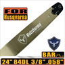 "24"" Chainsaw Guide Bar 3/8"" Pitch .058"" Fit Husqvarna 61 66 266 268 272 84DL"