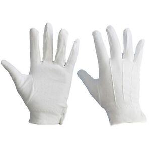 1 Pair White Formal Gloves Tuxedo Honor Guard Parade Santa Men Inspection HOT