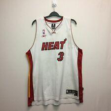Vintage Miami Heat Adidas Dwayne Wade #3 White 2XL Jersey