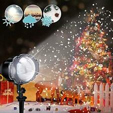 ECOWHO Christmas Projector Light, LED Snowfall Lanscape Lights with Remote