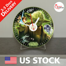NEW Star Wars Yoda CD Clock Action lot Master Vintage jedi Exclusive gift art 1